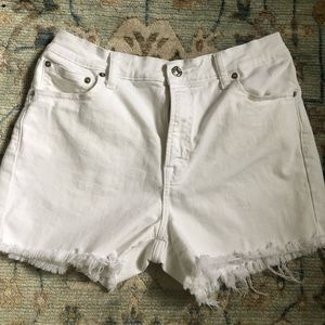 GAP White Denim Jean Shorts Cut Offs